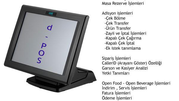 Restoran ve Cafeler için POS Adisyon Sistemi